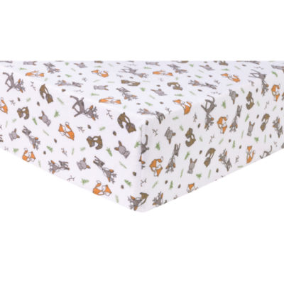 Trend Lab Forest Nap  Flannel Fitted Crib Sheet Crib Sheet