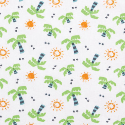 Trend Lab Dinosaur Palm Flannel Fitted Crib Sheet