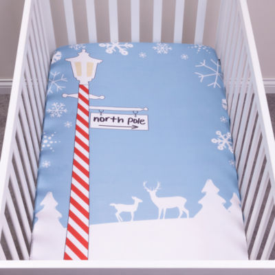 Trend Lab North Pole Flannel Photo Op Crib Sheet Crib Sheet