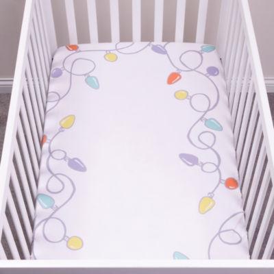 Trend Lab Holiday Lights Flannel Crib Sheet