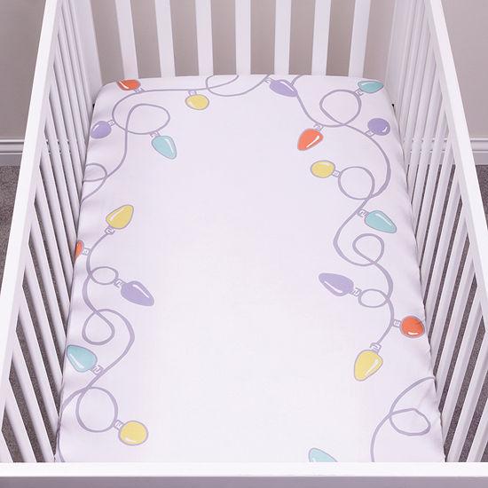 Trend Lab Holiday Lights Flannel  Crib Sheet Crib Sheet