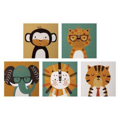 Trend Lab Safari Portraits Canvas 5-Pc. Wall Art 5-pc. Canvas Art