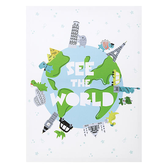 Trend Lab See The World Dinosaurs Canvas Wall Art Canvas Art