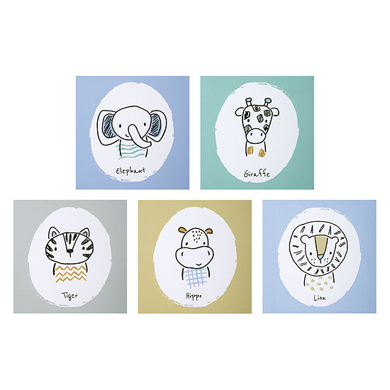 Trend Lab Safari Yearbook Canvas 5-Pc. Wall Art 5-pc. Canvas Art