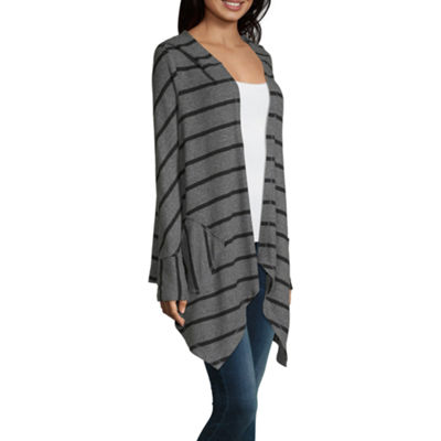 Artesia Womens Long Sleeve Stripe Pullover Sweater