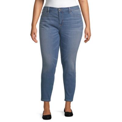 St. John's Bay Skinny Ankle Jean - Plus