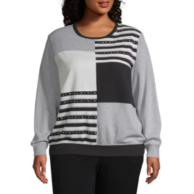Alfred Dunner At Ease Colorblock Sweatshirt - Plus