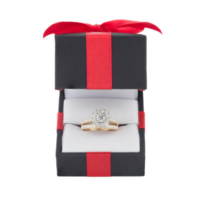 Womens 2 CT. T.W. White Diamond 10K Gold Bridal Set