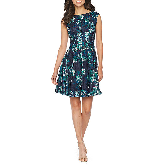 c62f9986494f Danny & Nicole Sleeveless Lace Floral Fit & Flare Dress - JCPenney