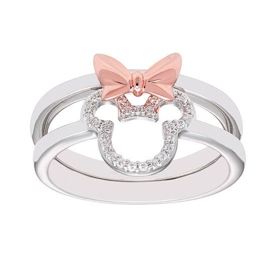 Disney Classics 1/10 CT. T.W. Genuine Diamond 14K Rose Gold Over Silver Minnie Mouse 2-pc. Jewelry Set