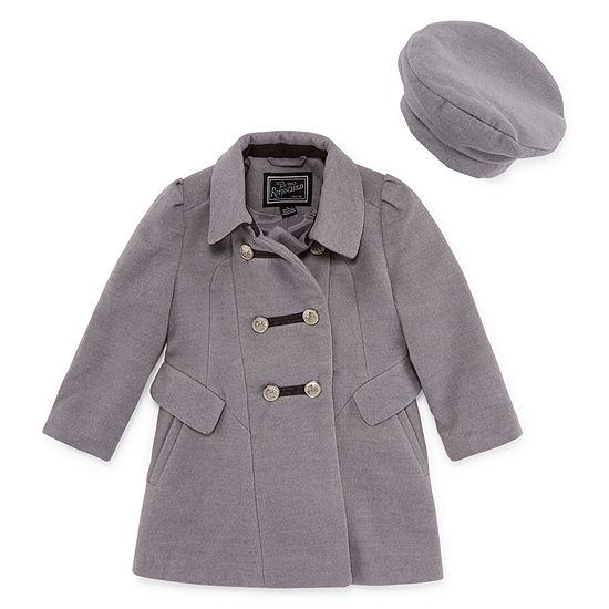 a62ee7ab9b4 S Rothschild Band Master Coat with Hat -Toddler Girls - JCPenney