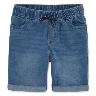 Okie Dokie Boys Knit Denim Short - Toddler