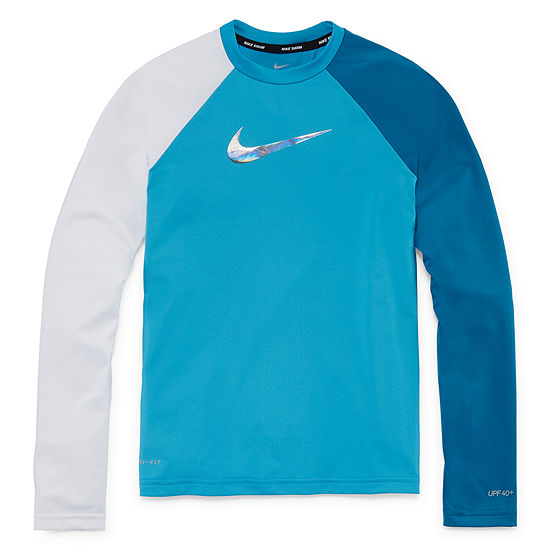 Nike Girls Logo Rash Guard - Big Kid