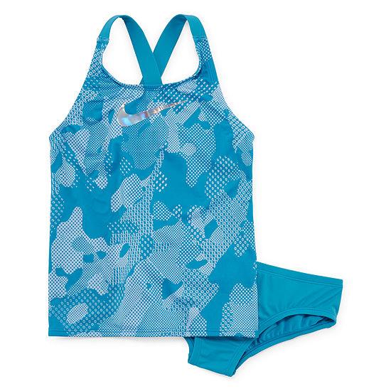 Nike Girls Camouflage Tankini Set - Big Kid