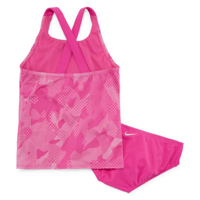 Nike Girls Camouflage Tankini Set - Big Kid