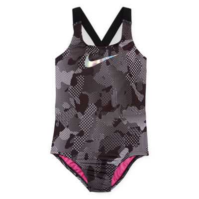 Nike Camouflage One Piece Swimsuit Big Kid Girls