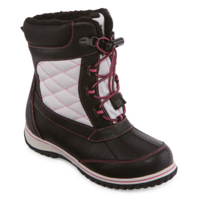 Totes Little Kid/Big Kid Girls Kimberly Insulated Winter Boots Lace-up