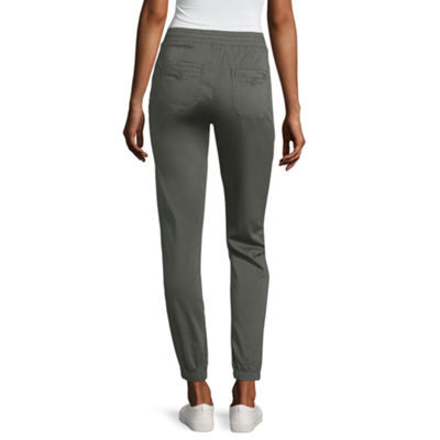 Unionbay Caylee Solid Soft Jogger Original Fit Sateen Pull-On Pants-Juniors