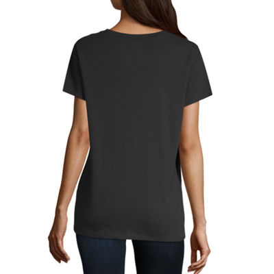 North Pole Trading Co. Short Sleeve Crew Neck T-Shirt-Womens Juniors