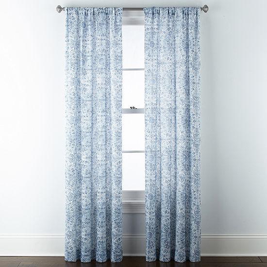 Liz Claiborne Melbourne Light-Filtering Rod-Pocket Curtain Panel
