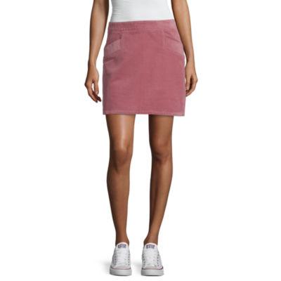 a.n.a Womens Mid Rise Short A-Line Skirt