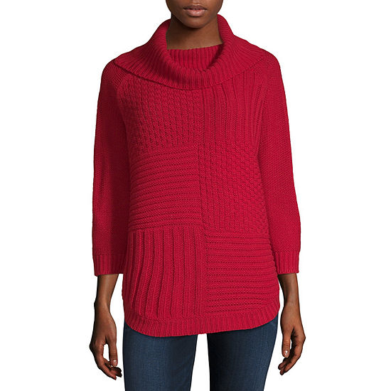 Liz Claiborne 34 Sleeve Cowl Neck Pullover Sweater Jcpenney