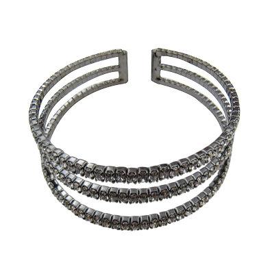 Vieste Rosa Womens Clear Brass Cuff Bracelet
