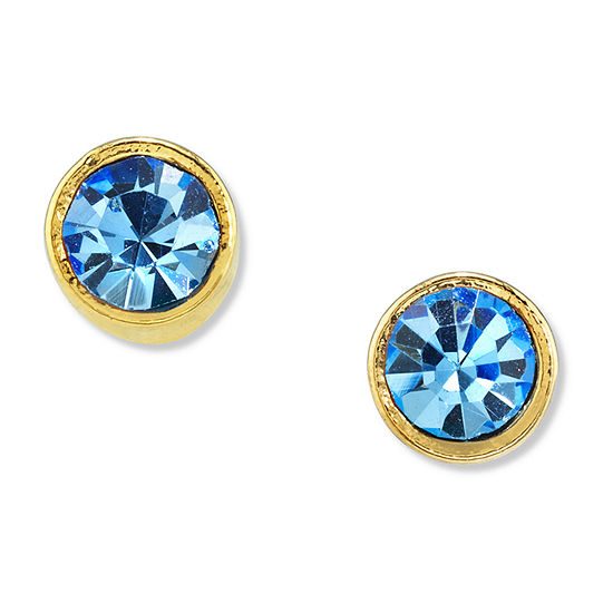 1928 14K Gold Over Brass 1/4 Inch Stud Earrings