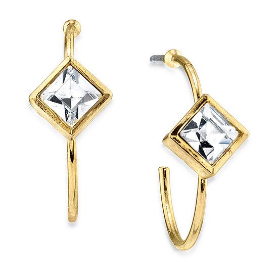 1928 14K Gold Over Brass 1 Inch Hoop Earrings