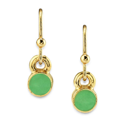 1928 14K Gold Over Brass Drop Earrings