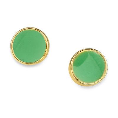 1928 14K Gold Over Brass 1/4 Inch Stud Earrings