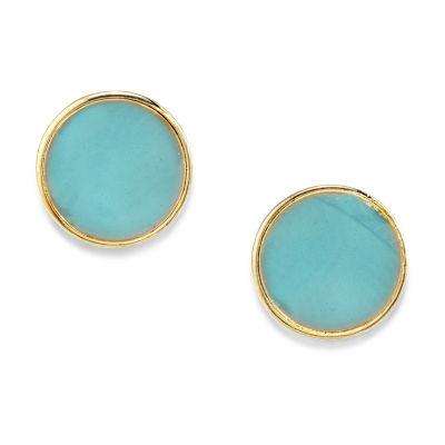 1928 14K Gold Over Brass 1/2 Inch Stud Earrings
