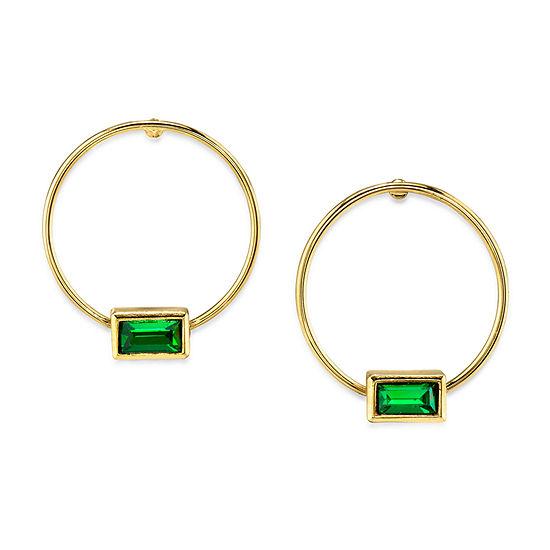 1928 14K Gold Over Brass Hoop Earrings