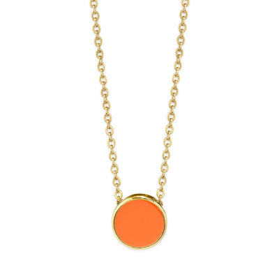 1928 Womens 14K Gold Over Brass Pendant Necklace
