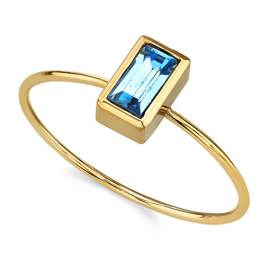 1928 Womens 14K Gold Over Brass Stackable Ring