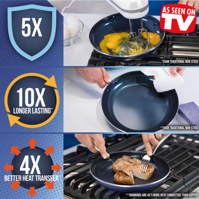 "As Seen on TV Blue Diamond Ceramic 11"" Non-Stick Square Griddle"