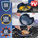 "As Seen on TV Blue Diamond Ceramic 11"" Non-Stick Round Grill Pan"