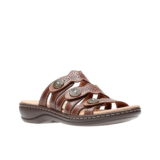 Clarks Womens Cc Leisa Grace Wide Width Slide Sandals