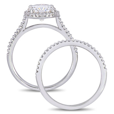 Womens 1/3 CT. T.W. White Moissanite 14K White Gold Bridal Set