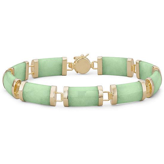 14K Gold Over Silver Solid Link Bracelet