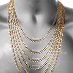 "Mens 10K Yellow Gold 22"" 7.5mm Hollow Figaro Chain Necklace"