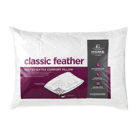 JCPenney Home Classic Feather Pillow, One Size , White