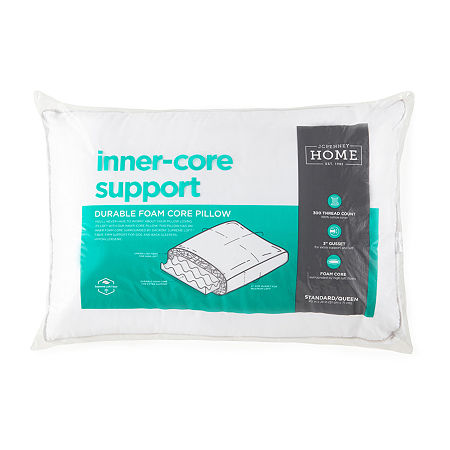 JCPenney Home Inner Core Support Down Alternative Pillow, One Size , White