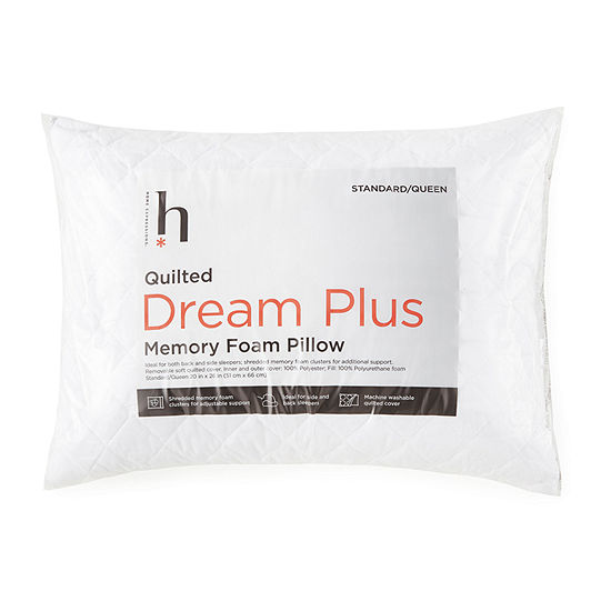 Home Expressions Dream Plus Quilted Memory Foam Cluster Pillow