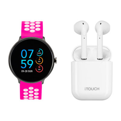 Itouch Sport with Wireless Earbuds Womens Pink Smart Watch-It7805b04i-195
