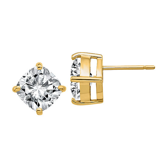 True Light 5 CT. T.W. Lab Created White Moissanite 14K Gold 8.5mm Stud Earrings