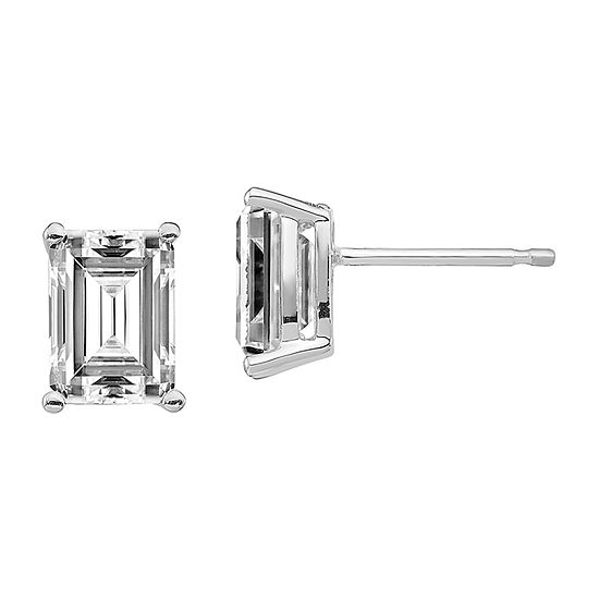True Light 1 CT. T.W. Lab Created White Moissanite 14K White Gold 6mm Stud Earrings