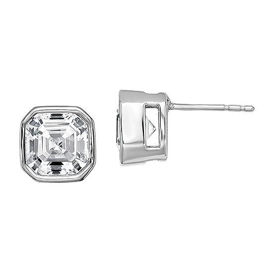 True Light 4 CT. T.W. Lab Created White Moissanite 14K White Gold 8.4mm Stud Earrings