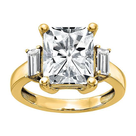 True Light Womens 1 1/5 CT. T.W. Lab Created White Moissanite 14K Gold Engagement Ring