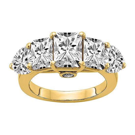True Light Womens 4 3/4 CT. T.W. Lab Created White Moissanite 14K Gold Engagement Ring